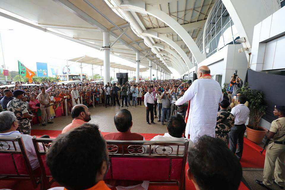 Amit Shah's Party Meeting Inside Goa Airport Attracts Criticism and Complaints